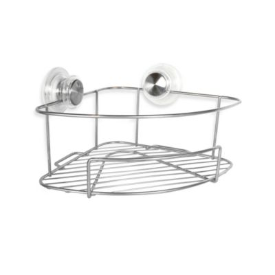 Interdesign Power Lock™ Ultra Corner Shelf in Silver