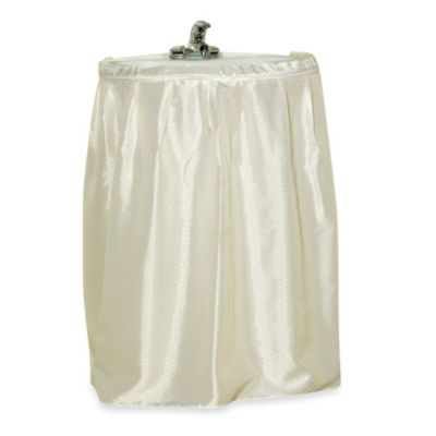 Carnation Home Fashions Lauren Dobby Sink Skirt in Ivory