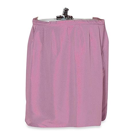 lauren dobby sink skirt in rose this clever polyester sink skirt ...