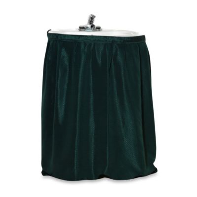 Carnation Home Fashions Lauren Dobby Sink Skirt in Evergreen