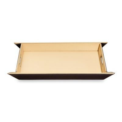 Ginsey FreeForm Tray in Ivory/Brown