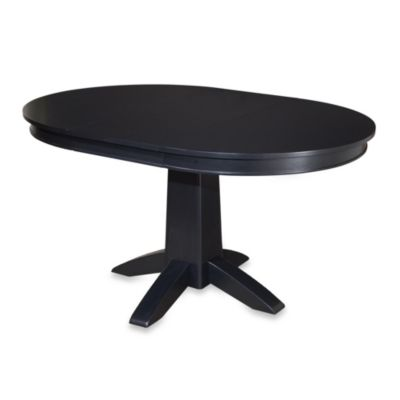 Home Styles Arts & Crafts Black Round Dining Table
