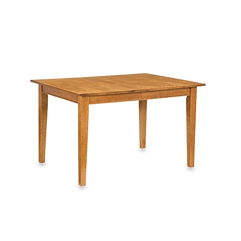 Buy home styles arts crafts solid wood dining table with for Solid oak dining table with leaf