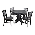 Home Styles Arts & Crafts Black 5-Piece Dining Set