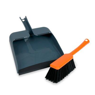 Casabella® Square Dustpan and Brush in Orange