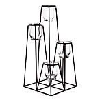 Geometrical 17-Inch Glass Tea Lite Centerpiece