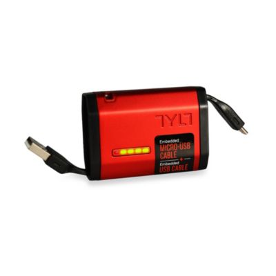 TYLT Micro-USB Powerplant Backup Charger in Red