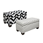 Skyline Furniture Storage Zig Zag Bench