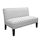 Skyline Furniture Armless Zig Zag Love Seat
