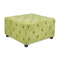 angelo:HOME Large Tufted Velvet Ottoman