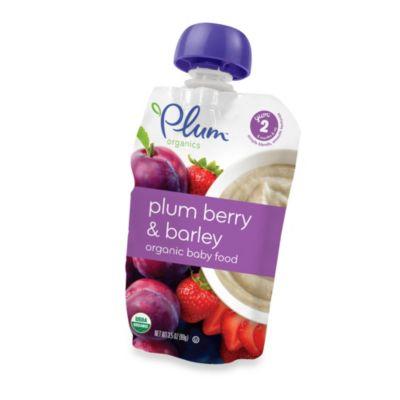 Baby Food > Plum Organics™ Second Blends™ 3.5 oz. Plum Berry and Barley Organic Baby Food