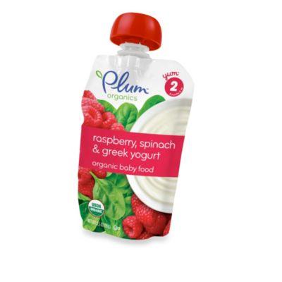 Food > Plum Organics™ Baby Second Blends™ Fruit & Grain - Raspberry, Spinach & Greek Yogurt