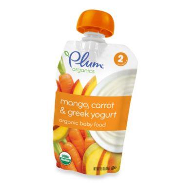 Baby Food > Plum Organics™ Second Blends™ 3.5 oz. Mango, Carrot and Greek Yogurt Organic Baby Food