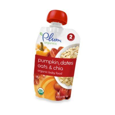 Food > Plum Organics™ Baby Second Blends™ Fruit & Grain - Pumpkin, Dates, Oats & Chia