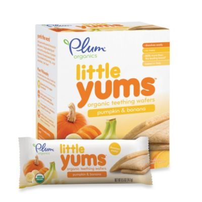 Food > Plum Organics™ Little Yums™ Organic Teething Wafers in Pumpkin and Banana