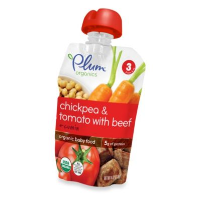 Food > Plum Organics™ Baby Stage 3 Chickpea and Tomato with Beef and Cumin