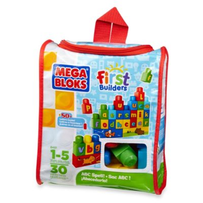 Mega Bloks First Builders Bag 30-Piece Build n' Learn Set in ABC