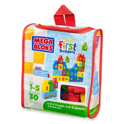 Mega Bloks First Builders Bag 30-Piece Build n' Learn Set in 123