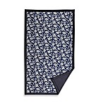 Tuffo Water-Resistant Outdoor Blanket in Navy Hawaii