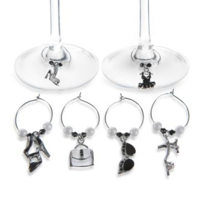 Girlie-Themed Wine Charms (Set of 6)