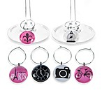 Icons of Paris Wine Charms (Set of 6)