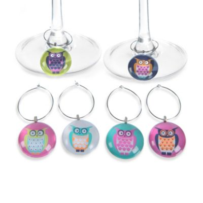 Wise Owl Wine Charms (Set of 6)