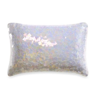 Kenneth Cole Reaction Home Haze Snow Oblong Toss Pillow