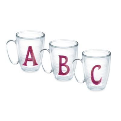 Tervis® Sequined Initial Emblem 15-Ounce Mug