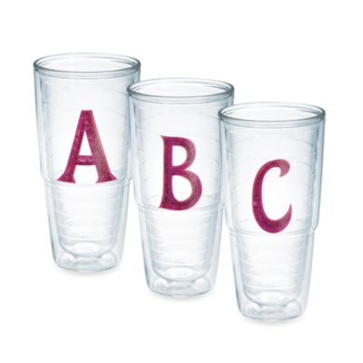"Tervis® Pink Sequined Letter ""Q"" 16-Ounce Tumbler"