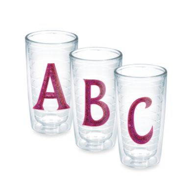 Tervis® Sequin Initial N 10-Ounce Tumbler in Pink