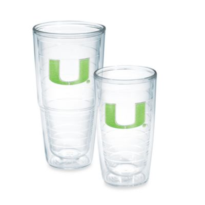 Tervis® University of Miami 16-Ounce Emblem Tumbler in Neon Green