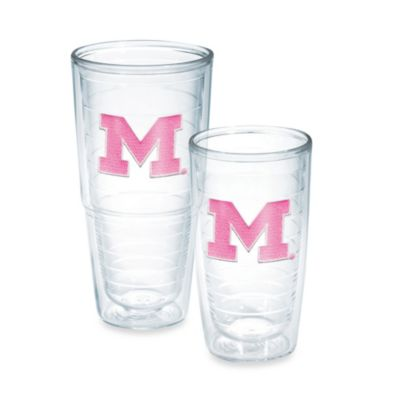 Tervis® University of Michigan 16-Ounce Emblem Tumbler in Neon Pink