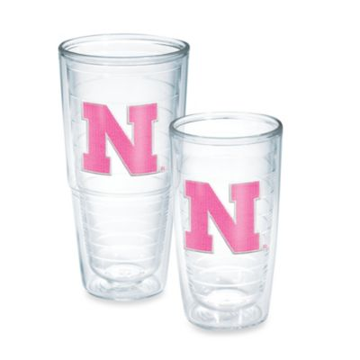 Tervis® University of Nebraska 24-Ounce Emblem Tumbler in Neon Pink