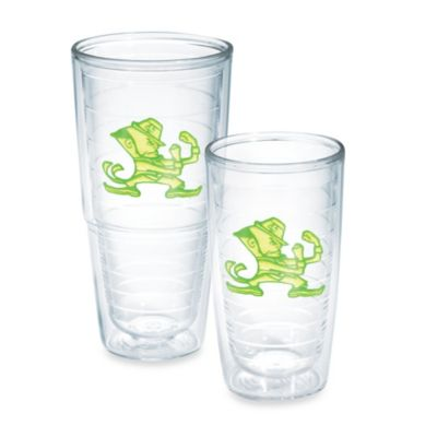 Tervis® University of Notre Dame 16-Ounce Emblem Tumbler in Neon Green