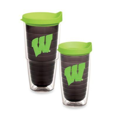 Tervis® University of Wisconsin Tumbler with Lid in Neon Green