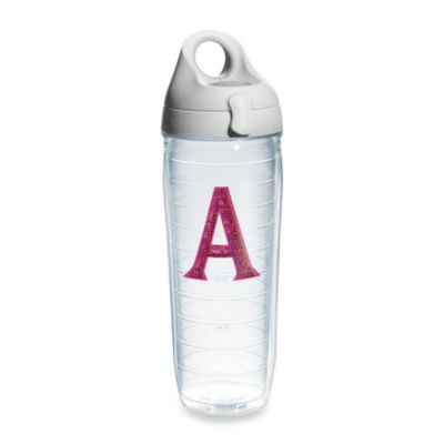 "Tervis® 24-Ounce Sequined Letter ""A"" Emblem Water Bottle"
