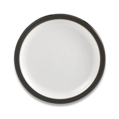 Denby Jet 10 1/2-Inch Dinner Plate in Grey/White