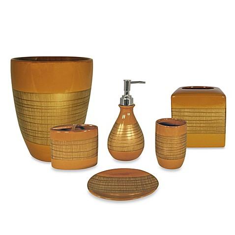 Sedona copper bath waste basket bed bath beyond - Copper wastebasket ...