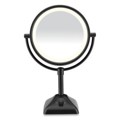 Conair® Variable Lighted 1X/10X Mirror in Black
