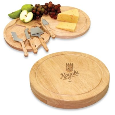 Picnic Time® Engraved MLB Kansas City Royals Circo Cheese Board Set