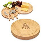 Picnic Time® Engraved MLB Miami Marlins Circo Cheese Board Set