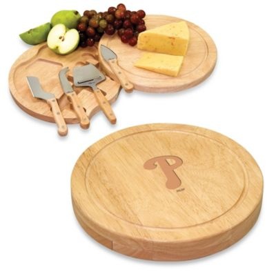 Picnic Time® Engraved MLB Philadelphia Phillies Circo Cheese Board Set