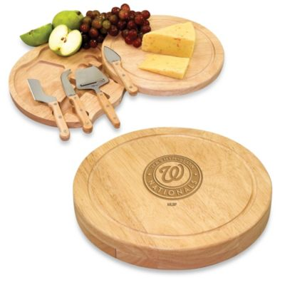 Picnic Time® Engraved MLB Washington Nationals Circo Cheese Board Set