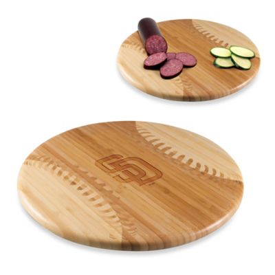 Picnic Time® Homerun! MLB San Diego Padres Engraved Round Bamboo Cutting Board