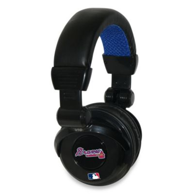 MLB Atlanta Braves iHip® DJ-Style Headphones with Inline Microphone
