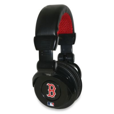 MLB Boston Red Sox iHip® DJ-Style Headphones with Inline Microphone