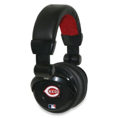 MLB Cincinnati Reds iHip® DJ-Style Headphones with Inline Microphone