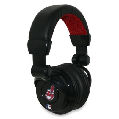 MLB Cleveland Indians iHip® DJ-Style Headphones with Inline Microphone