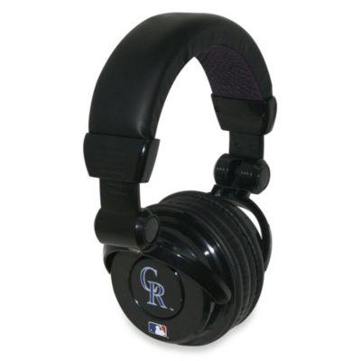 MLB Colorado Rockies iHip® DJ-Style Headphones with Inline Microphone