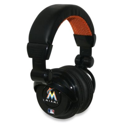MLB Miami Marlins iHip® DJ-Style Headphones with Inline Microphone